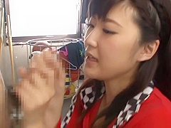 Alluring Asian queen Harukawa Sesera wild blowjob