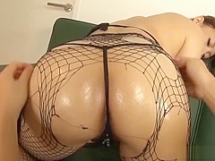 Stunning Japanese babe gets fucked hard in different poses on the sofa
