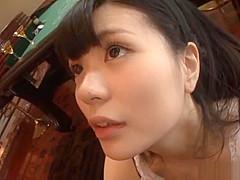 【幸田ユマ】スケスケのバニーコスでご主人様のチンポを美味しそうにフェラチオ!最後はお口に口内発射!