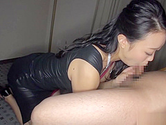 Remi Morioka enjoys sucking a massive cock good