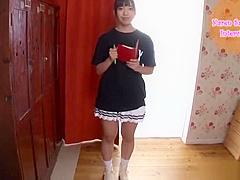 【咲坂花恋】水色のセーラ服コスの美少女のセックス