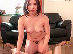 beauty japanese girl gets oral cumshot