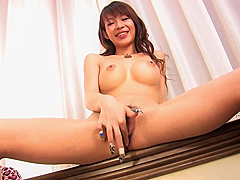 Busty japanese girl masturbating after pizza - Dreamroom Productions