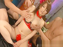 Busty Asian Babe gets Pussy part1