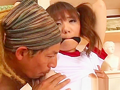 Sexy asian schoolgirl gets the vibrator part1