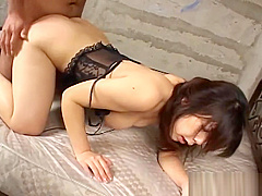 Lingerie Clad Asian Nympho Hungers For Her Lovers Cock