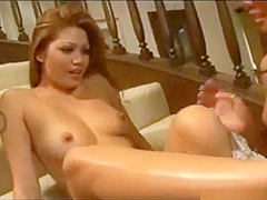 Steamy asian lesbo cunt licking part4