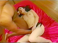 Oriental Babe Gives Geisha Pleasure To A Couple Of Lucky Guys