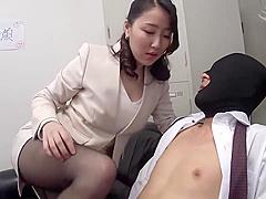 Japanese Femdom Footjob