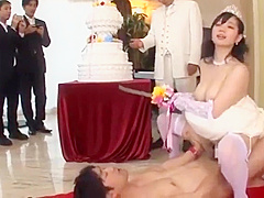 Time stop fuck bride and sexy girl at pool