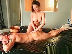 Japanese Nuru Slippery Massage And Sexy Fuck On Air Matress 29