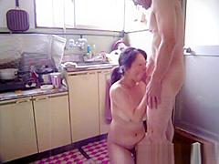 Japanese Milf At Kitchen