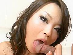 Big tits Japanese wild threesome
