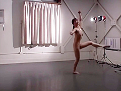 Japanese Ballet Dancer Warms Up and Performs in the Nude
