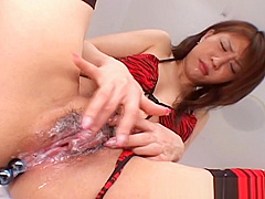 Emiri Sena Playing With Her Pussy and Asshole