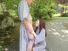 Charming babe gives an erotic blowjob