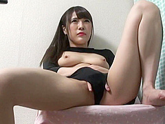 Hidden cam under the desk masturbation Umi Hinata