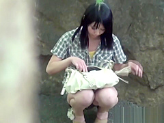 Japanese outdoor pissing