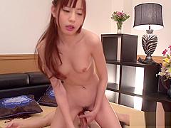 Lusty japanese fellatio