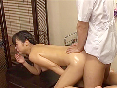 The young wife was tempted by the masseur