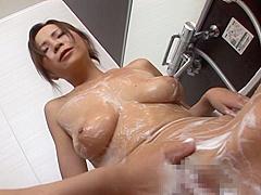 Sumire Matsu Asian babe is a hot milf enjoying bath time play