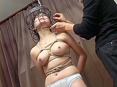 Subtitled Japanese CMNF BDSM nose hook bird cage play