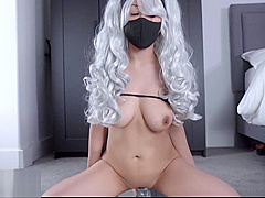 4K HD Kakashi Sexy no Jutsu cosplay creamy solo female masturbation