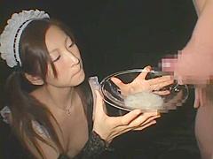 JAPANESE Beautiful maid CUM SHOT GOKKUN