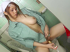Japanese Custodian Sucks in the Bathroom