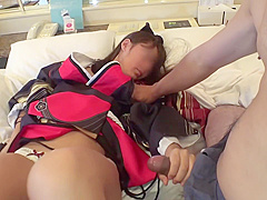 Coach Fingering Japanese Teen Pussy At The Bench