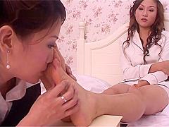 Old japanese foot worship