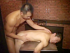 Hot Japanese military punishes and fucks young recruit