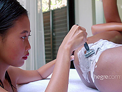 Chloe & Hiromi - Massage and Masturbation