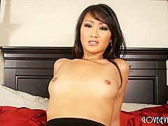 Evelyn Lin - Anal Creampie in stockings asian nylon pov