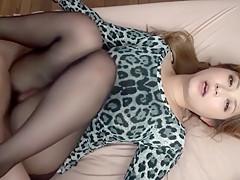 Incredible Japanese whore Haruki Sato in Amazing stockings, couple JAV video