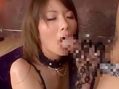 【今村美穂】黒ガーターストッキングのお姉さんがデカチンポセックスでイキまくり