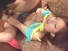 Crazy Japanese chick Seira Moroboshi, Mye Tsukishima, Hiyoko Morinaga in Horny Blowjob/Fera, Big Tits JAV clip