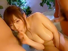 Incredible Japanese girl Azusa Nagasawa in Best Showers, Threesomes JAV scene