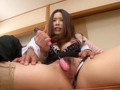 Amazing Japanese girl Risa Kasumi in Crazy Stockings, Wife JAV movie