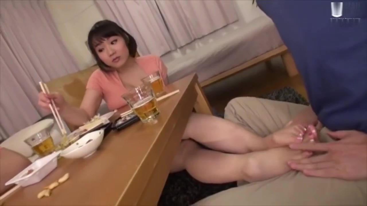 Asian Handjob Under Table