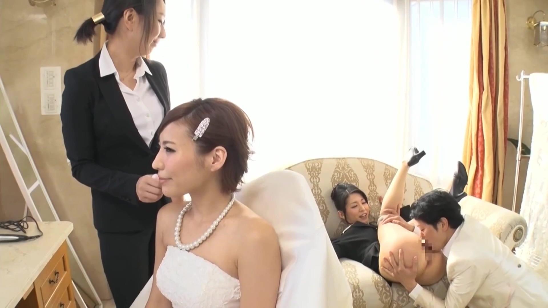 SEXのハードル・ウェディング編 新婦メイク中に勃起してしまった新郎が式場スタッフ女性に中出し 夏希みなみ